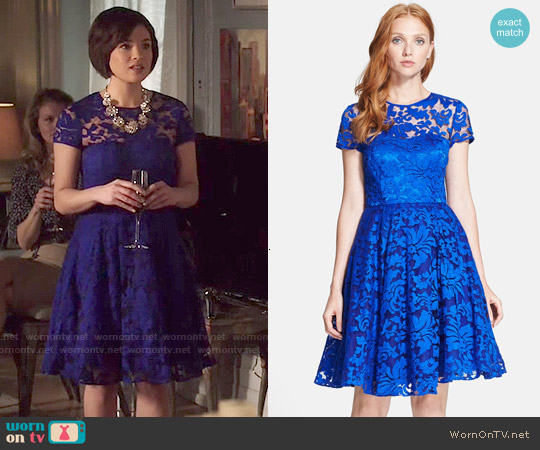 Ted Baker Caree Lace Fit & Flare Dress worn by Nicole Gale Anderson on Beauty & the Beast