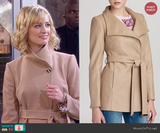 Ted Baker Chessy Coat worn by Beth Behrs on 2 Broke Girls