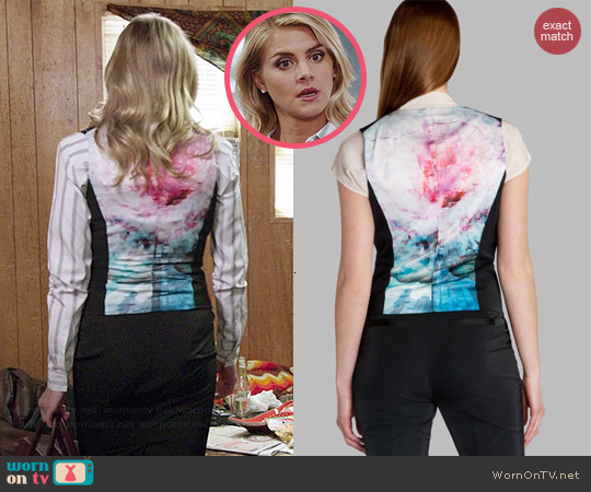 Ted Baker Clandew Suit Vest worn by Eliza Coupe on Benched