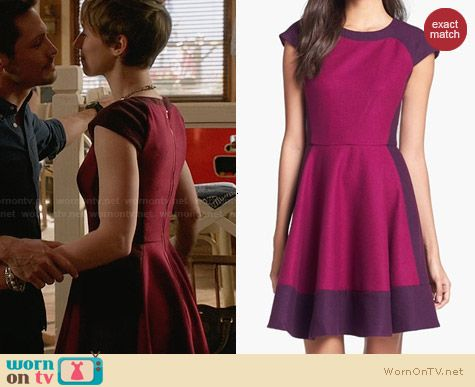 Ted Baker Colorblock A-Line Dress worn by Karine Vanasse on Revenge