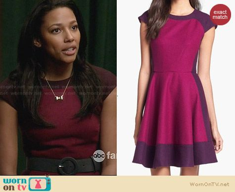 Ted Baker Colorblock A-Line Dress worn by Kylie Bunbury on Twisted
