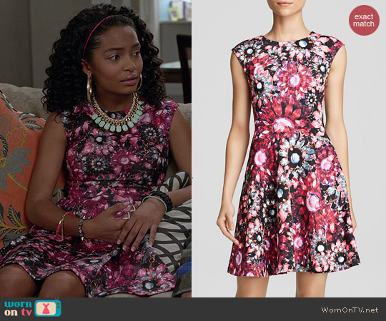 Ted Baker Crystal Brooch Dress worn by Yara Shahidi on Black-ish