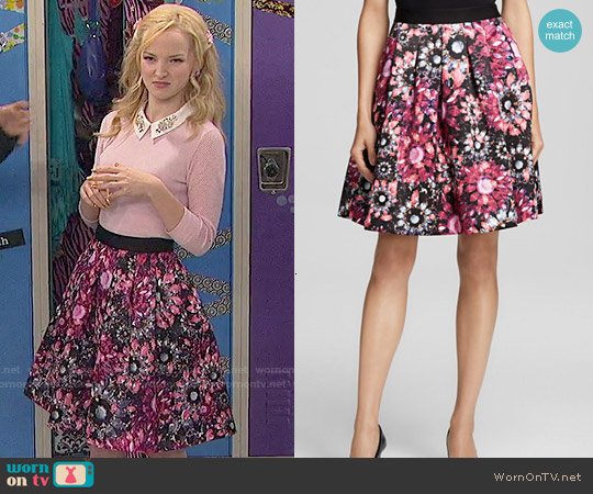 Ted Baker Crystal Brooch Print skirt worn by Liv Rooney on Liv & Maddie