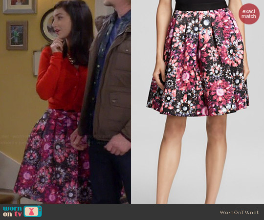 Ted Baker Crystal Brooch Full Skirt worn by Molly Ephraim on Last Man Standing