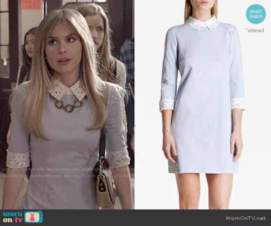 Ted Baker Currie Lace Collar Tunic worn by Carlson Young on Scream