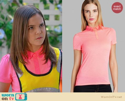 Ted Baker Divah Collar Top worn by Bailee Madison on Trophy Wife