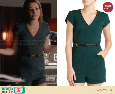 Ted Baker Ellysa Playsuit worn by Lea Michele on Glee
