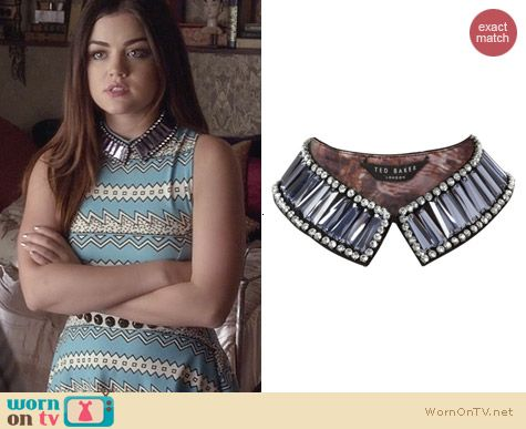 Ted Baker Embellished Collar worn by Lucy Hale on PLL
