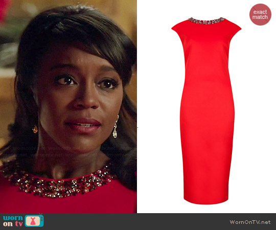 Ted Baker Elenna Embellished Midi Dress worn by Aja Naomi King on HTGAWM