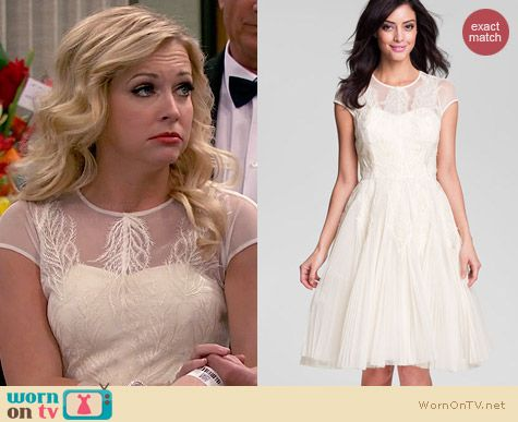Ted Baker Embroidered Mesh Fit & Flare Dress worn by Melissa Joan Hart on Melissa & Joey