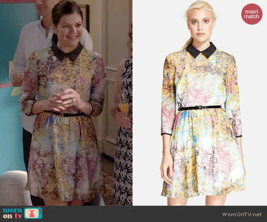Ted Baker Eponi Pretty Trees Dress worn by Casey Wilson on Marry Me