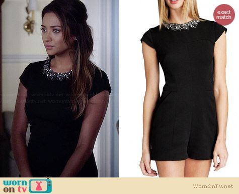 Ted Baker Evelin Playsuit worn by Shay Mitchell on PLL