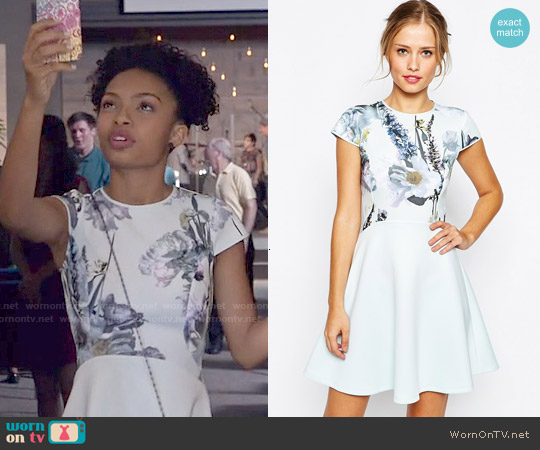Ted Baker Faythe Dress worn by Yara Shahidi on Blackish