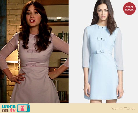 Ted Baker Finna Dress worn by Zooey Deschanel on New Girl