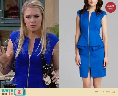 Ted Baker Jamthun Peplum Dress worn by Melissa Joan Hart on Melissa & Joey