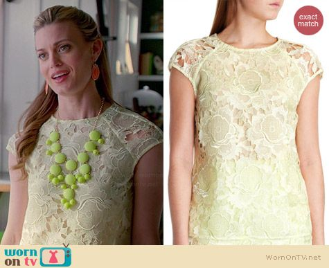 Ted Baker Keelio Lace Top worn by Brooke D'Orsay on Royal Pains