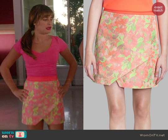 Ted Baker Keleche Floral Jacquard Wrap Skirt worn by Lea Michele on Glee