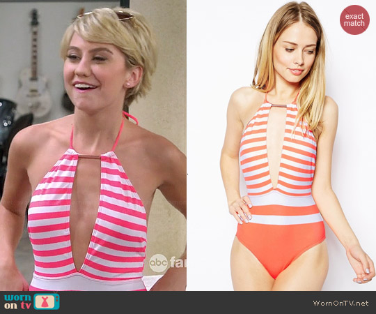 Ted Baker Lealla Swimsuit worn by Chelsea Kane on Baby Daddy