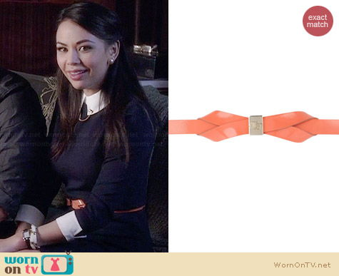 Ted Baker Loupie Belt in Pink worn by Janel Parrish on PLL