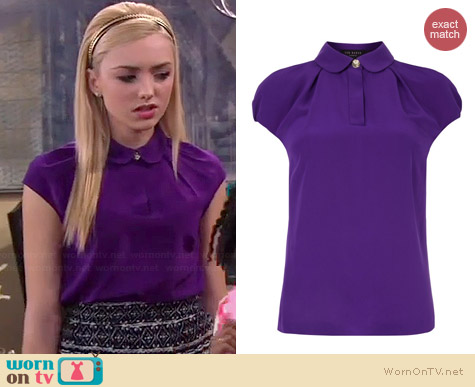 Ted Baker Maddi Top worn by Peyton List on Jessie