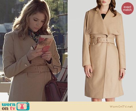 Ted Baker Madigan Coat in Camel worn by Ashley Benson on PLL