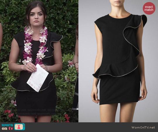Wornontv Aria S Black Ruffled Funeral Dress On Pretty