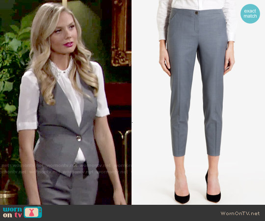 Ted Baker Nisat Polished Suit Pant worn by Abby Newman on The Young & the Restless