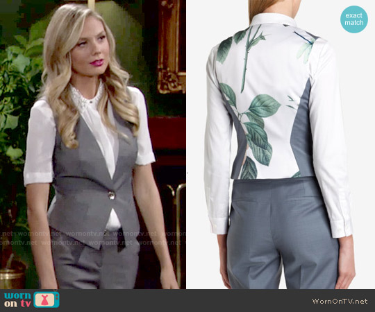 Ted Baker Nisat Polished Suit Vest worn by Melissa Ordway on The Young & the Restless