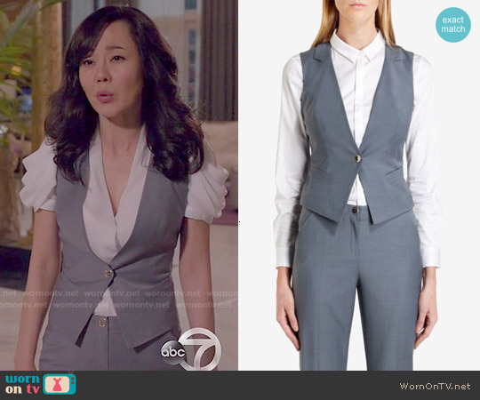 Ted Baker Nisaw Polished Suit Vest worn by Yunjin Kim on Mistresses