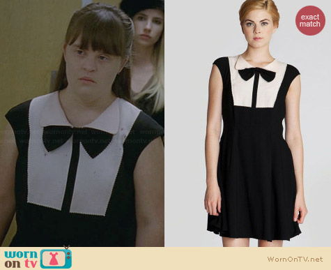 Ted Baker Nitcha Bow Collar Dress worn by Jamie Brewer on AHS Coven