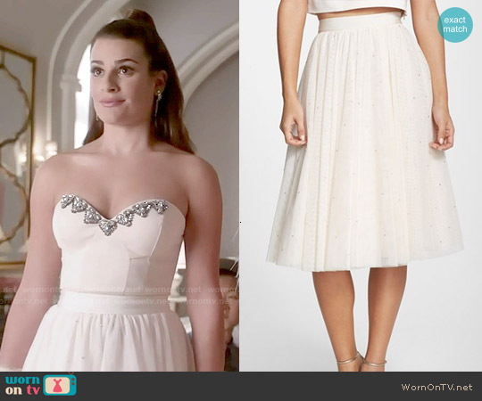 Ted Baker Odella Tulle Skirt worn by Hester Ulrich on Scream Queens