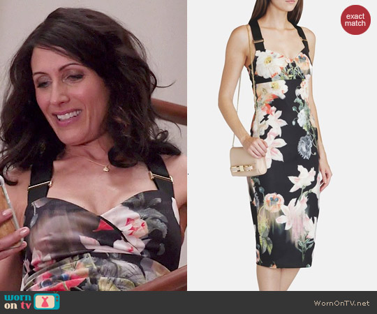 Ted Baker Opulent Bloom Sheath worn by Lisa Edelstein on GG2D