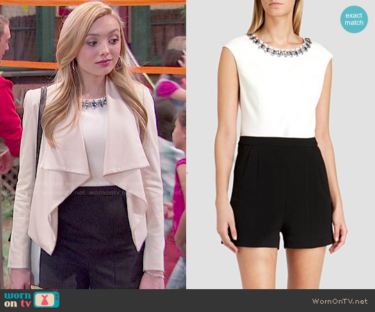 Ted Baker Oryana Embellished Neck Romper worn by Peyton List on Bunkd