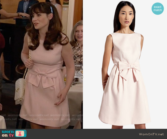 Ted Baker Nuhad Bow Dress worn by Zooey Deschanel on New Girl