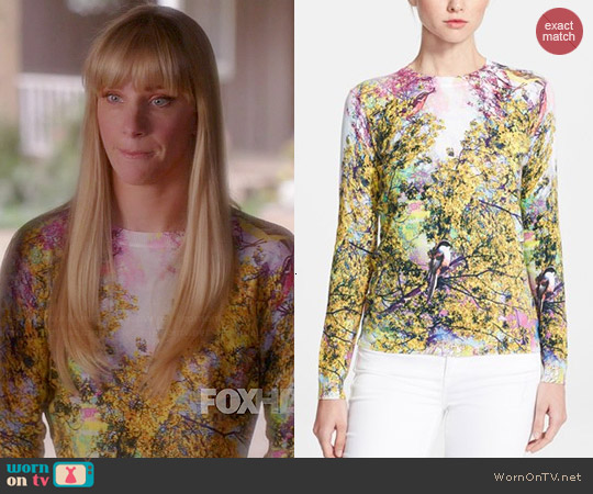 Ted Baker Pretty Trees Sweater worn by Heather Morris on Glee