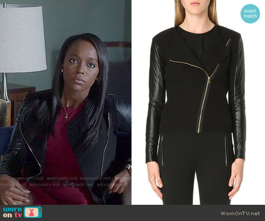 Ted Baker Rhya Jacket worn by Michaela Pratt on HTGAWM