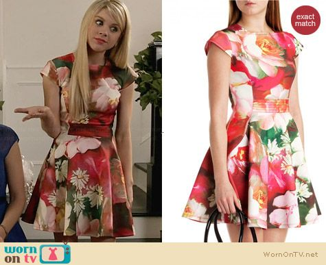 Ted Baker Roziey Dress worn by Bailey Buntain on Faking It
