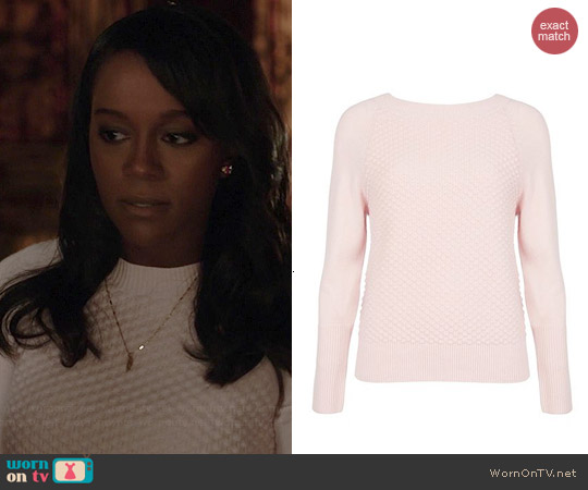 Ted Baker Salhie Bobble Sweater worn by Aja Naomi King on HTGAWM