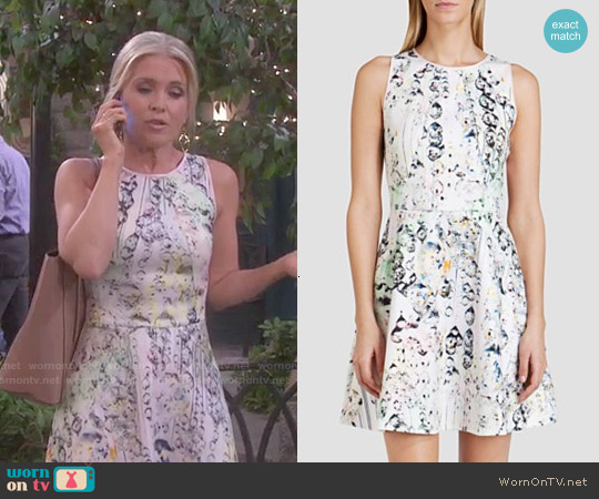 Ted Baker Sapira Crystal Droplets Dress worn by Melissa Reeves on Days of our Lives