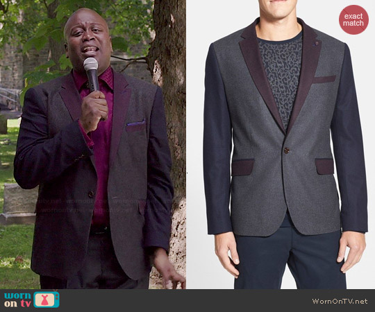 Ted Baker Septa Colorblock Blazer worn by Tituss Burgess on Unbreakable Kimmy Schmidt