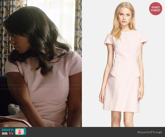 Ted Baker Structured Wool Blend Dress worn by Aja Naomi King on HTGAWM