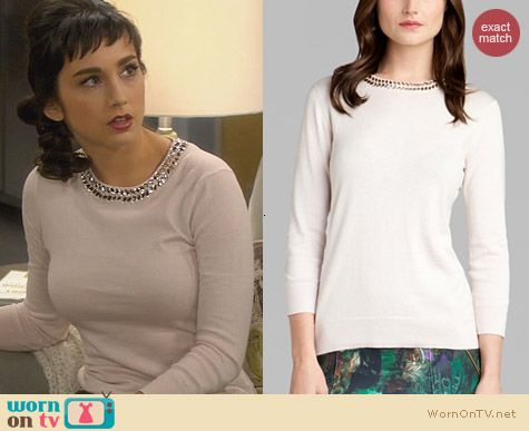 Ted Baker Tahin Sweater worn by Molly Ephraim on Last Man Standing