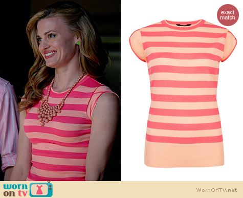 Ted Baker Taiba Cap Sleeve Jumper worn by Brooke D'Orsay on Royal Pains