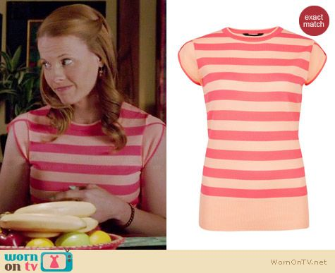 Ted Baker Taiba Cap Sleeve Jumper worn by Katie Leclerc on Switched at Birth