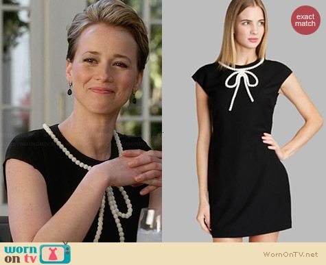 Ted Baker Temberl Beaded Bow Tunic Dress worn by Karine Vanasse on Revenge