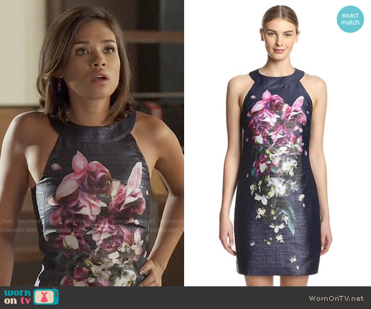 Ted Baker Therese Floral Shift Dress worn by Nicole Gale Anderson on Beauty & the Beast