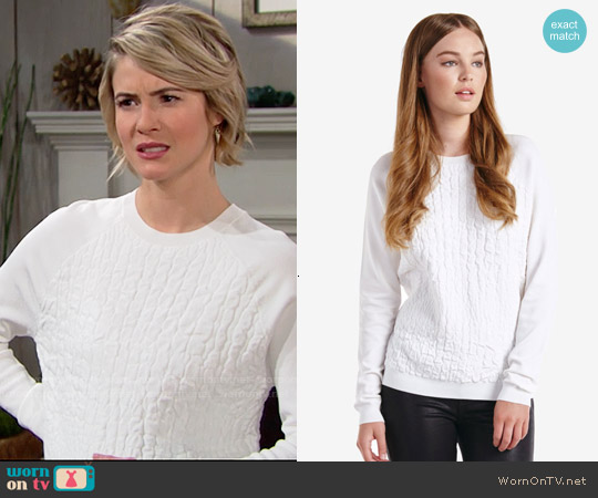 Ted Baker Umay Croc Effect Sweater worn by Linsey Godfrey on The Bold & the Beautiful