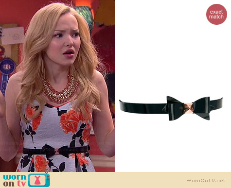 Ted Baker Weldon Bow Belt worn by Dove Cameron on Liv & Maddie