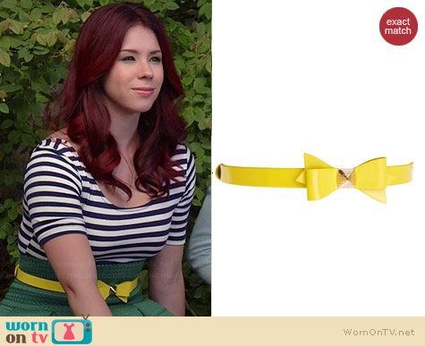 Ted Baker Weldon Bow Belt worn by Jillian Rose Reed on Awkward