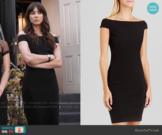 Ted Baker Black Wiona Dress worn by Troian Bellisario on PLL
